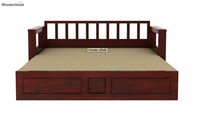 Riota Sofa Cum Bed With Storage (Queen Size, Mahogany Finish)-11
