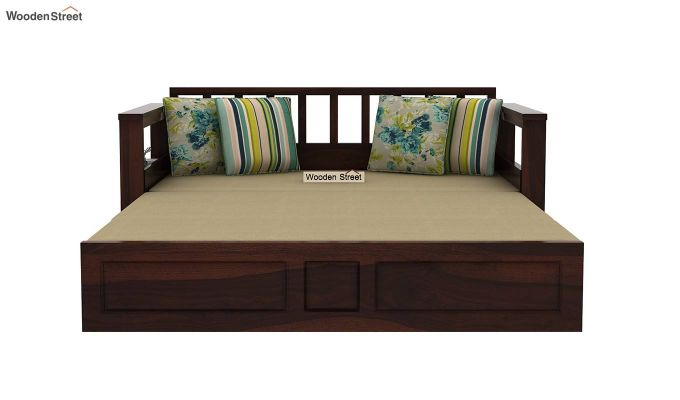 Riota Sofa Cum Bed With Storage (King Size, Walnut Finish)-10