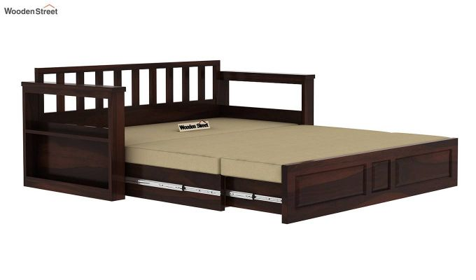 Riota Sofa Cum Bed With Storage (Queen Size, Walnut Finish)-11