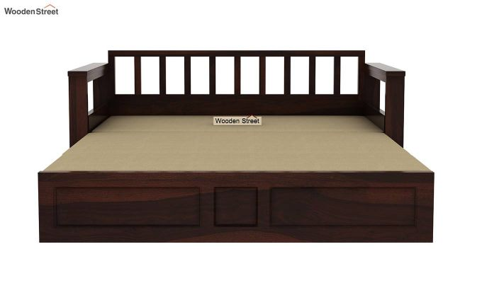Riota Sofa Cum Bed With Storage (King Size, Walnut Finish)-12