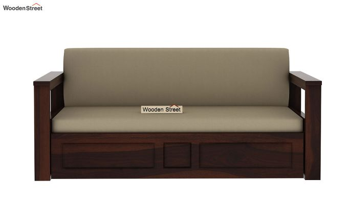 Riota Sofa Cum Bed With Storage (Queen Size, Walnut Finish)-5