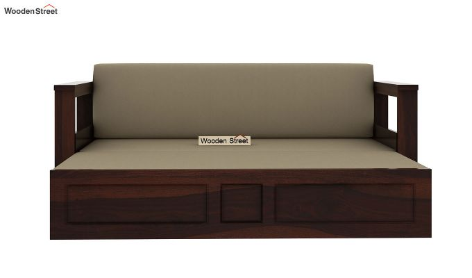 Riota Sofa Cum Bed With Storage (Queen Size, Walnut Finish)-6