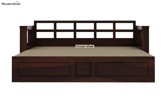 Riota Sofa Cum Bed With Storage (Queen Size, Walnut Finish)-9