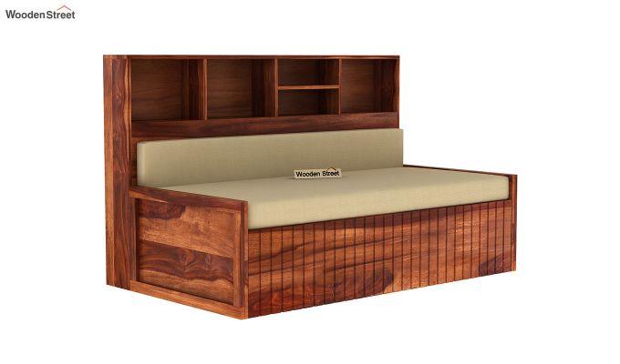 Savannah Sofa Cum Bed With Storage (King Size, Honey Finish)-3