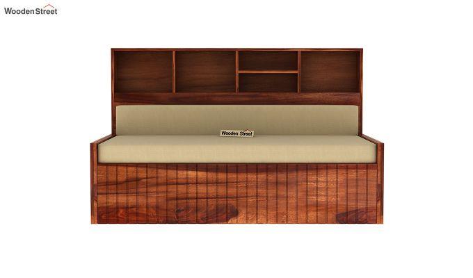 Savannah Sofa Cum Bed With Storage (King Size, Honey Finish)-4