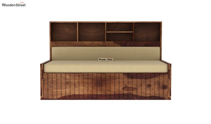 Savannah Sofa Cum Bed With Storage (King Size, Teak Finish)-4