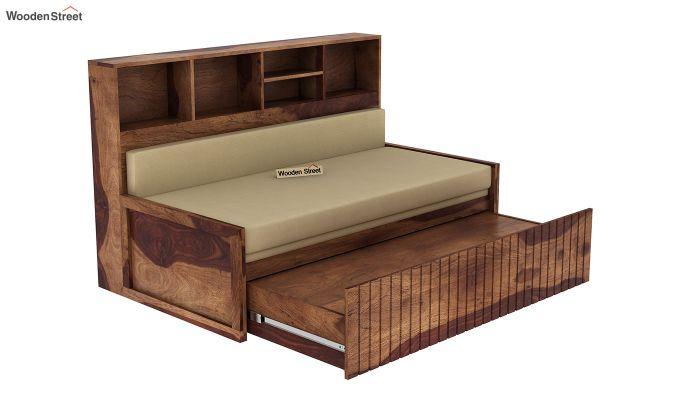 Savannah Sofa Cum Bed With Storage (Queen Size, Teak Finish)-6