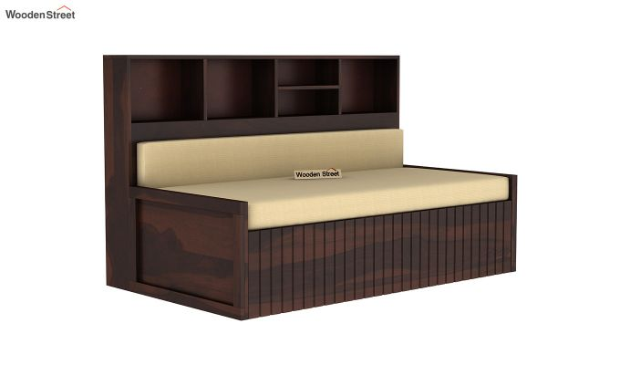 Savannah Sofa Cum Bed With Storage (Queen Size, Walnut Finish)-3
