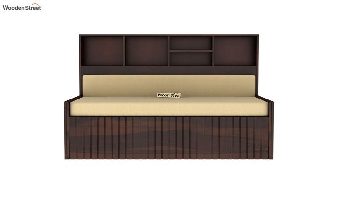 Savannah Sofa Cum Bed With Storage (Queen Size, Walnut Finish)-4