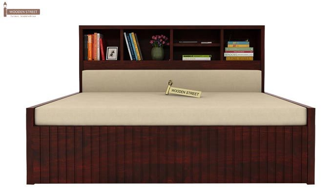 Savannah Sofa Cum Bed With Storage (Queen Size, Mahogany Finish)-3