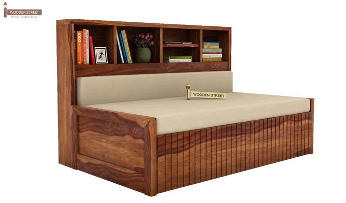 Savannah Sofa Cum Bed With Storage (King Size, Teak Finish)-1
