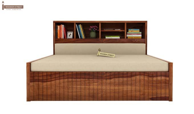 Savannah Sofa Cum Bed With Storage (King Size, Teak Finish)-3
