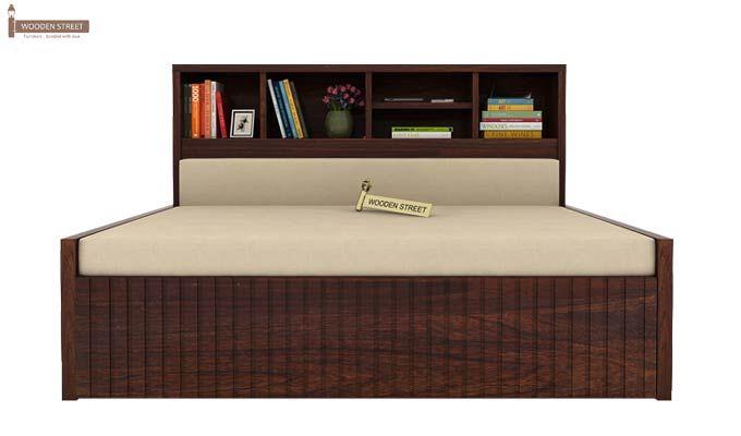 Savannah Sofa Cum Bed With Storage (Queen Size, Walnut Finish)-3
