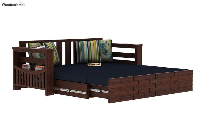 Sereta Sofa Cum Berth (Queen Size, Indigo Ink, Walnut Finish)-8