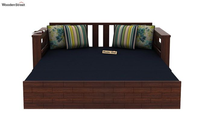 Sereta Sofa Cum Berth (Queen Size, Indigo Ink, Walnut Finish)-9