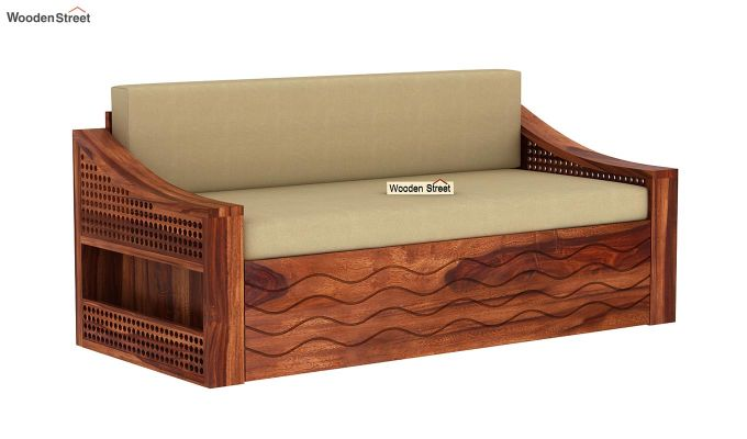 Thar Sofa Cum Bed (King Size, Honey Finish)-3