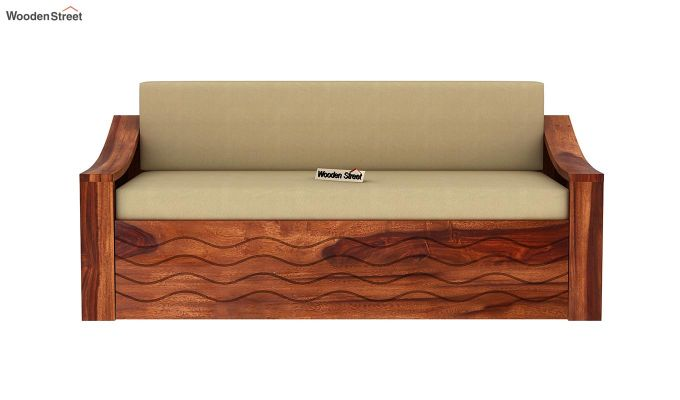 Thar Sofa Cum Bed (King Size, Honey Finish)-4