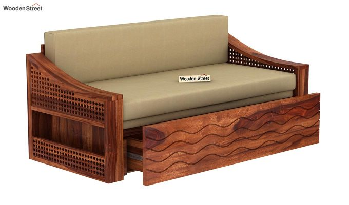 Thar Sofa Cum Bed (King Size, Honey Finish)-5
