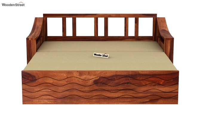 Thar Sofa Cum Bed (King Size, Honey Finish)-8