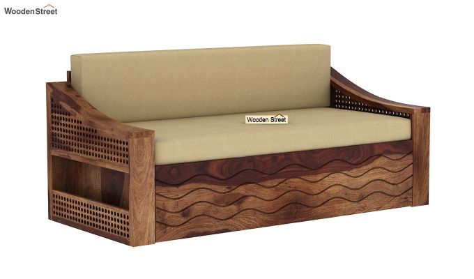 Thar Sofa Cum Bed (King Size, Teak Finish)-3