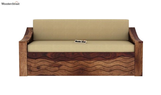 Thar Sofa Cum Bed (King Size, Teak Finish)-4