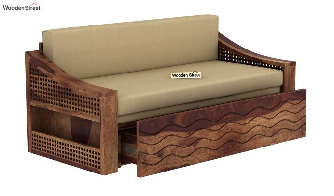 Thar Sofa Cum Bed (King Size, Teak Finish)-5