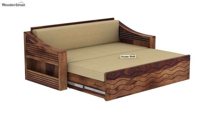 Thar Sofa Cum Bed (King Size, Teak Finish)-6