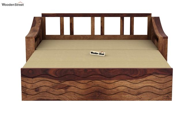 Thar Sofa Cum Bed (King Size, Teak Finish)-8