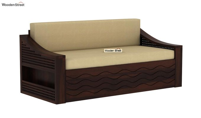 Thar Sofa Cum Bed (King Size, Walnut Finish)-3