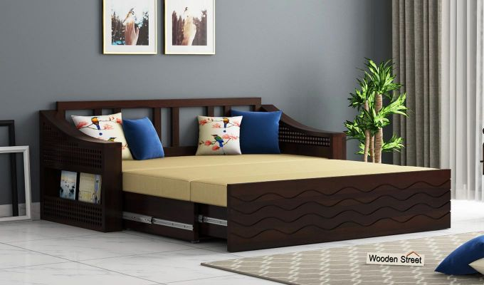 Thar Sofa Cum Bed (King Size, Walnut Finish)-2