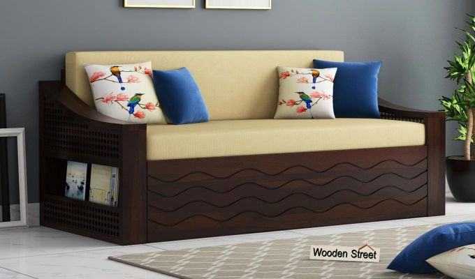 Thar Sofa Cum Bed (King Size, Walnut Finish)-1