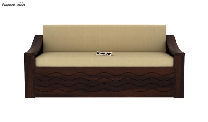 Thar Sofa Cum Bed (King Size, Walnut Finish)-4
