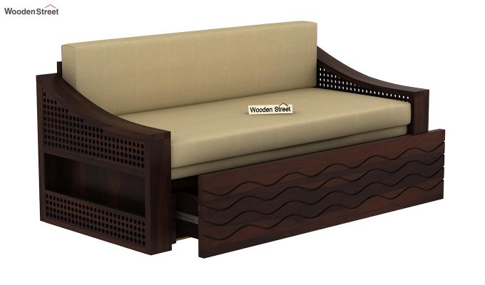 Thar Sofa Cum Bed (King Size, Walnut Finish)-5