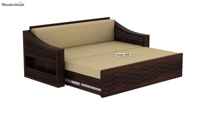Thar Sofa Cum Bed (King Size, Walnut Finish)-6