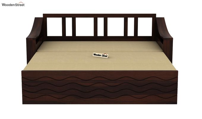 Thar Sofa Cum Bed (King Size, Walnut Finish)-8