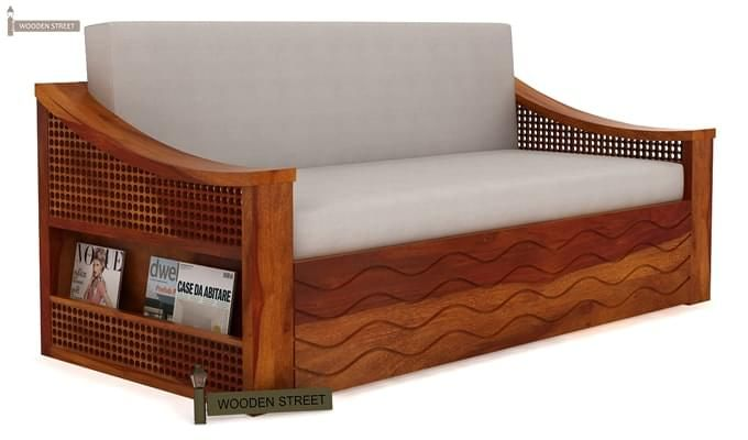 Thar Sofa Cum Bed (Queen Size, Honey Finish)-3