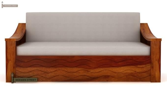 Thar Sofa Cum Bed (Queen Size, Honey Finish)-4