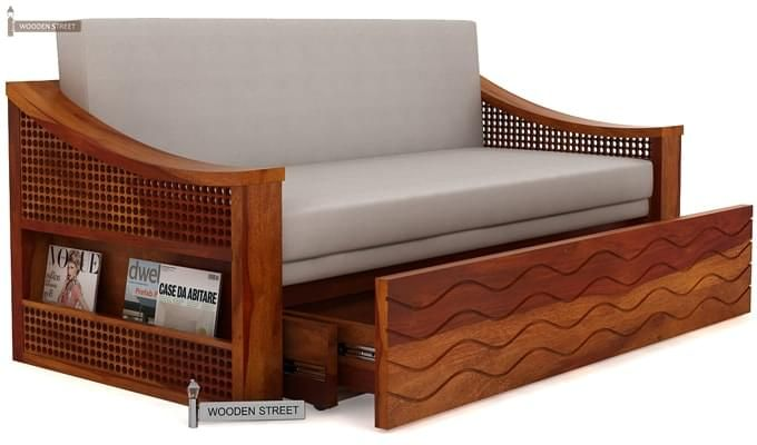Thar Sofa Cum Bed (Queen Size, Honey Finish)-5