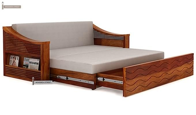 Thar Sofa Cum Bed (Queen Size, Honey Finish)-8