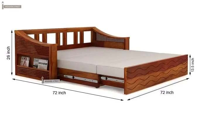Buy Thar Sofa Cum Bed King Size Honey Finish Online In