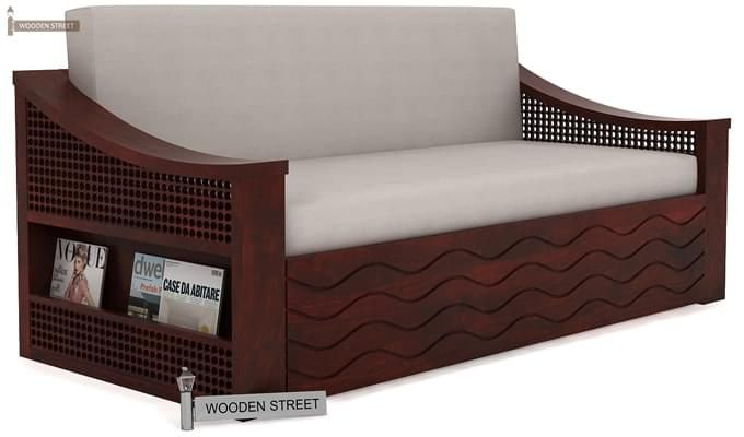 Thar Sofa Cum Bed (Queen Size, Mahogany Finish)-1