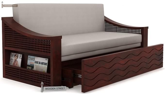 Thar Sofa Cum Bed (Queen Size, Mahogany Finish)-3