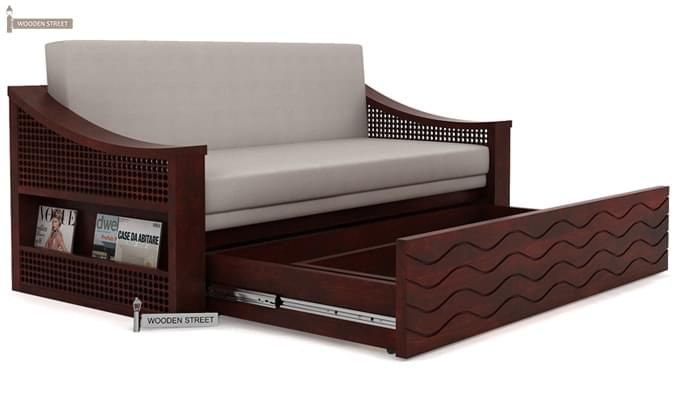 Thar Sofa Cum Bed (Queen Size, Mahogany Finish)-4