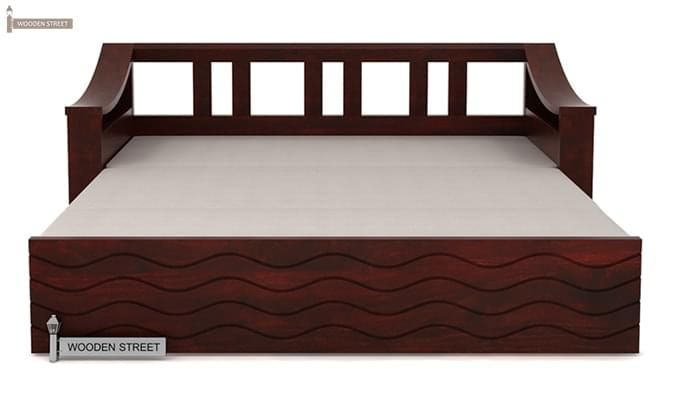 Thar Sofa Cum Bed (Queen Size, Mahogany Finish)-7