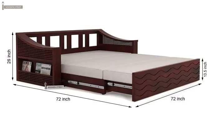 Thar Sofa Cum Bed (King size, Mahogany Finish)-10