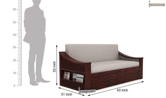 Thar Sofa Cum Bed (Queen Size, Mahogany Finish)-9