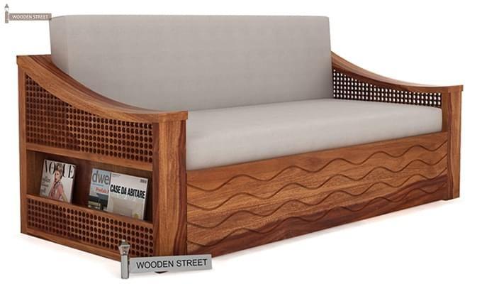 Thar Sofa Cum Bed (King Size, Teak Finish)-1