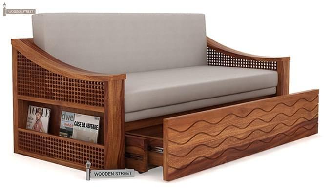 Thar Sofa Cum Bed (King Size, Teak Finish)-3