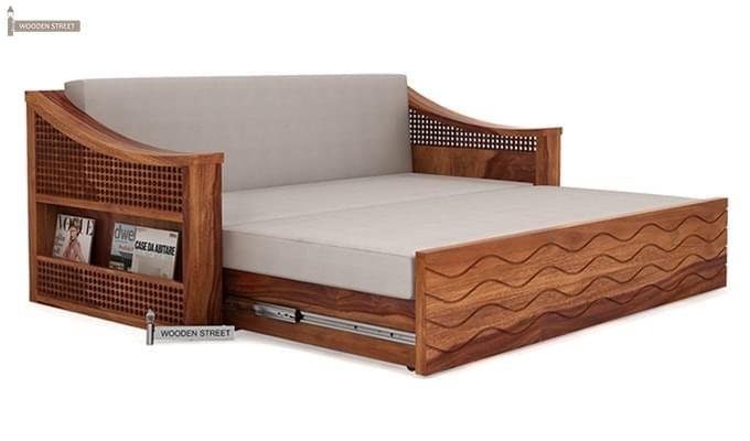 Thar Sofa Cum Bed (King Size, Teak Finish)-5