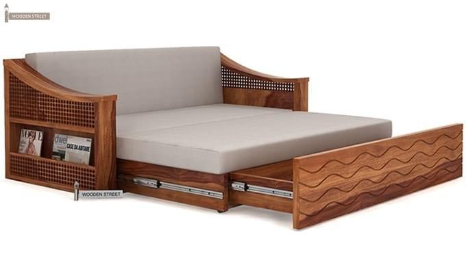 Thar Sofa Cum Bed (King Size, Teak Finish)-6